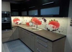 Foto Spatwand in de keuken - Sfeervolle decoratie!