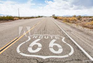 Foto op aluminium op maat met Route 66